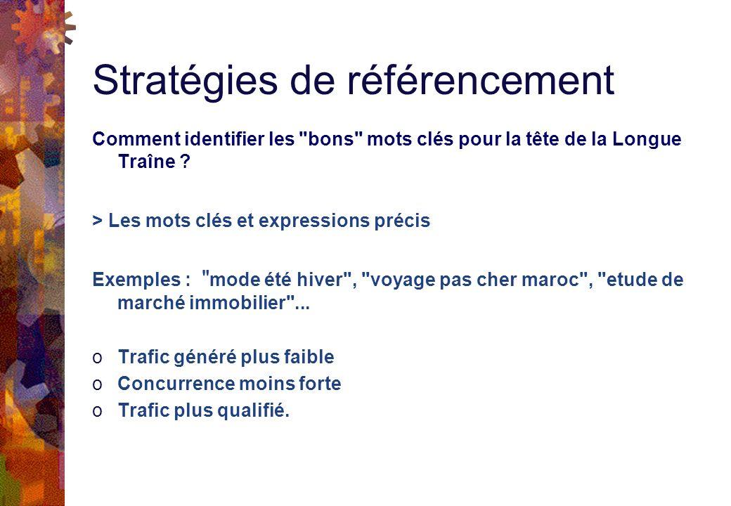 Stratégies de référencement Comment identifier les bons mots clés pour la tête de la Longue Traîne .
