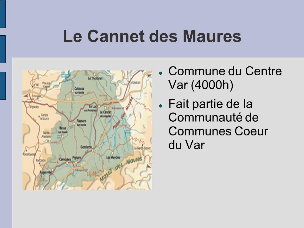 La Médiathèque du Cannet des Maures et son environnement Médiathèque municipale inaugurée en 2003 Communes environnantes (Le luc 9000h,Le Thoronet 2000h, Les Mayons 600h, Cabasse 1800h,...)
