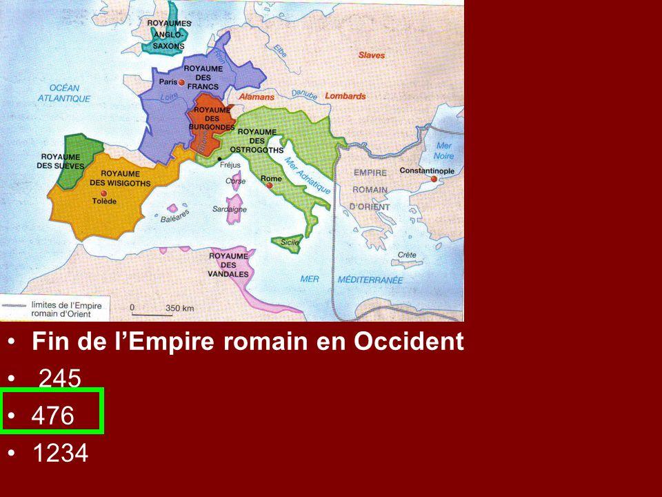 Fin de lEmpire romain en Occident 245 476 1234