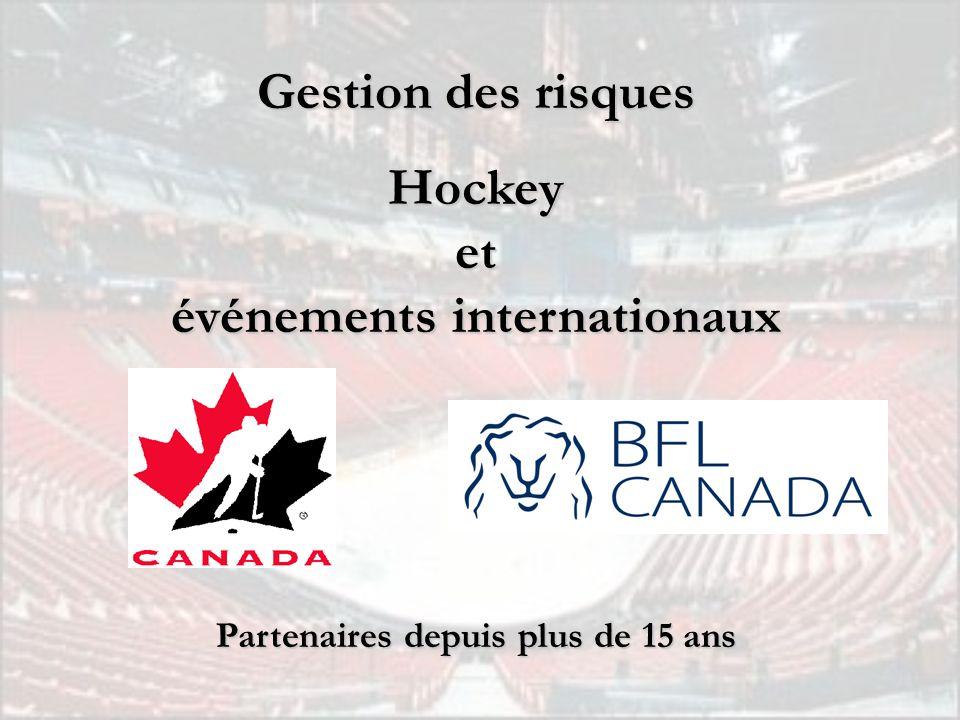 Gestion des risques Hockeyet événements internationaux Partenaires depuis plus de 15 ans