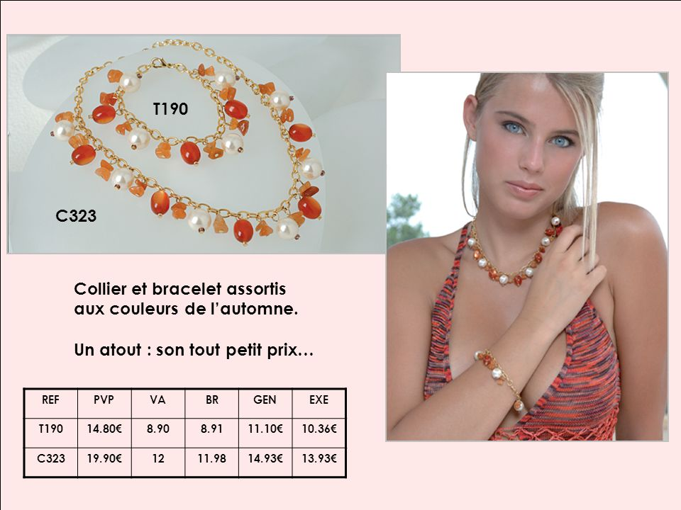 C328 Médaillon très tendance orné de petites perles, sur un tour de cou multi rangs.