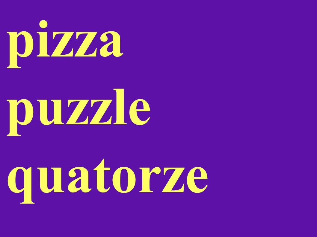 pizza puzzle quatorze