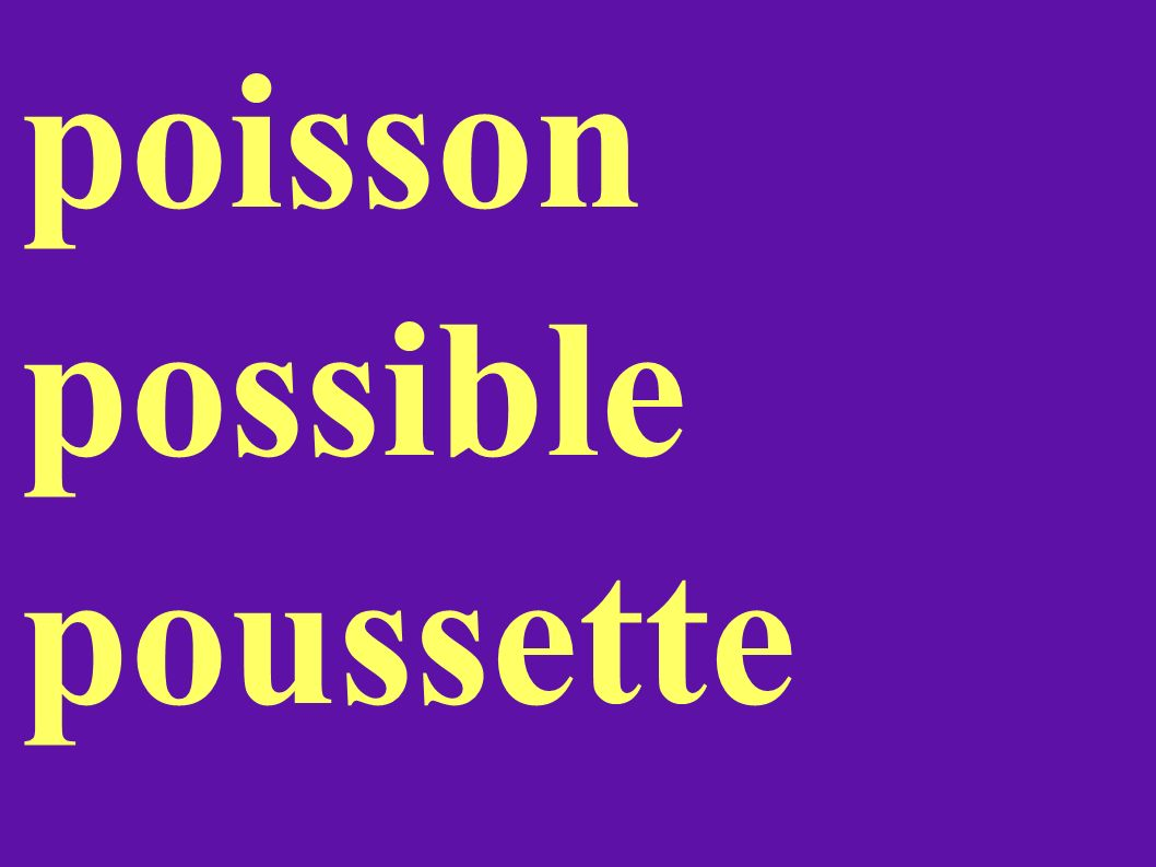 poisson possible poussette