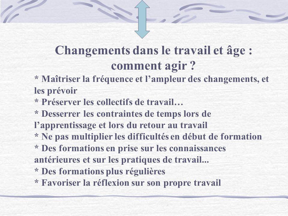 On peut apprendre à tout âge L effet «âge» est moins important que la diversité des résultats selon les individus et leurs parcours Deux caractéristiq