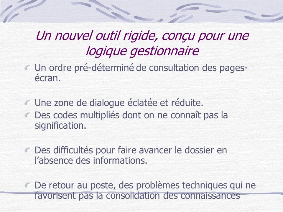Les stratégies dexpérience des agents Le traitement dun courrier permet de faire le point sur la situation de lusager grâce à une navigation informati