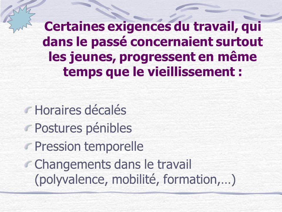 Taux demployabilité des seniors Taux demployabilité des seniors 37,8% en France 44% en Europe Objectif de Lisbonne : 50% en 2010 En France : plan nati