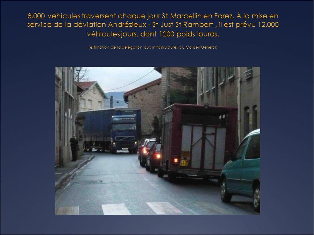 La traversée de St Marcellin en Forez est recensée parmi les 23 zones les plus dangereuses du département .