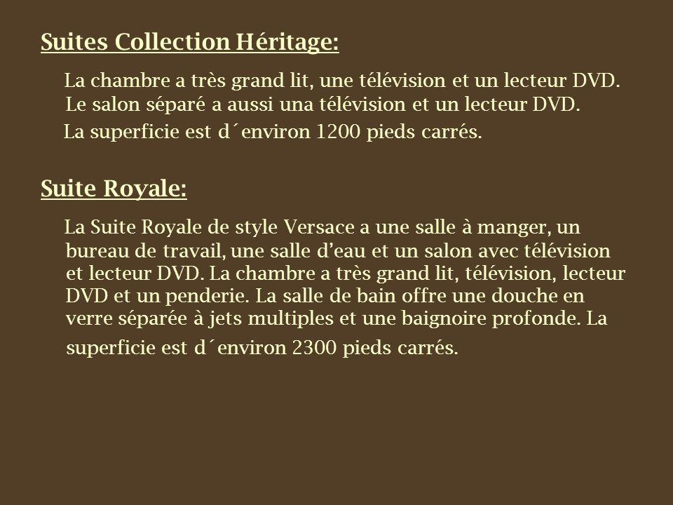 Suites Collection Héritage: La chambre a très grand lit, une télévision et un lecteur DVD.