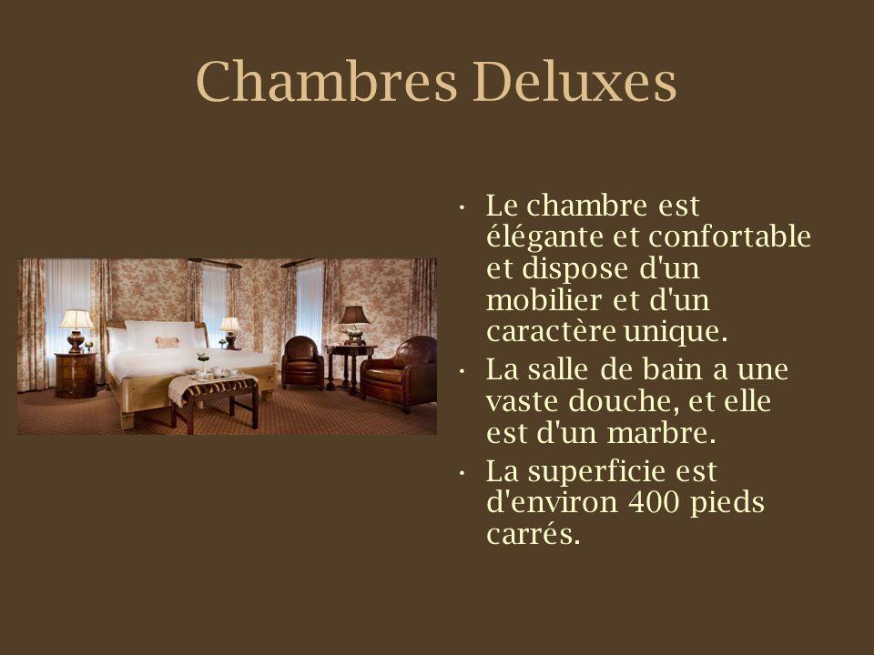 Chambres Deluxes Le chambre est élégante et confortable et dispose d un mobilier et d un caractère unique.