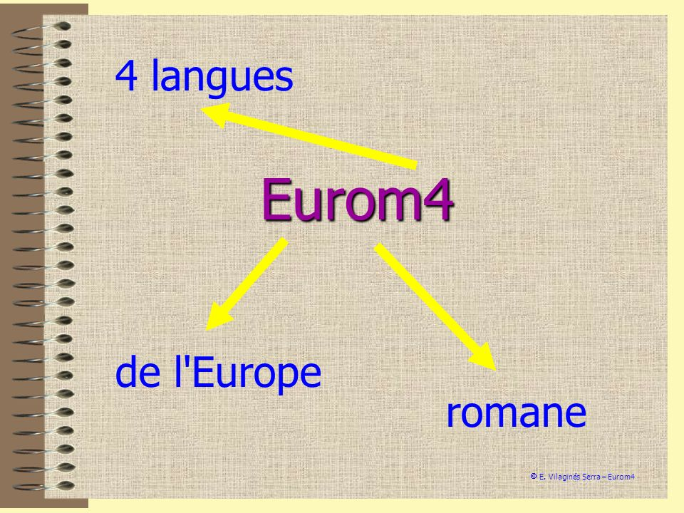 Eurom4 4 langues E. Vilaginés Serra – Eurom4 de l'Europe romane