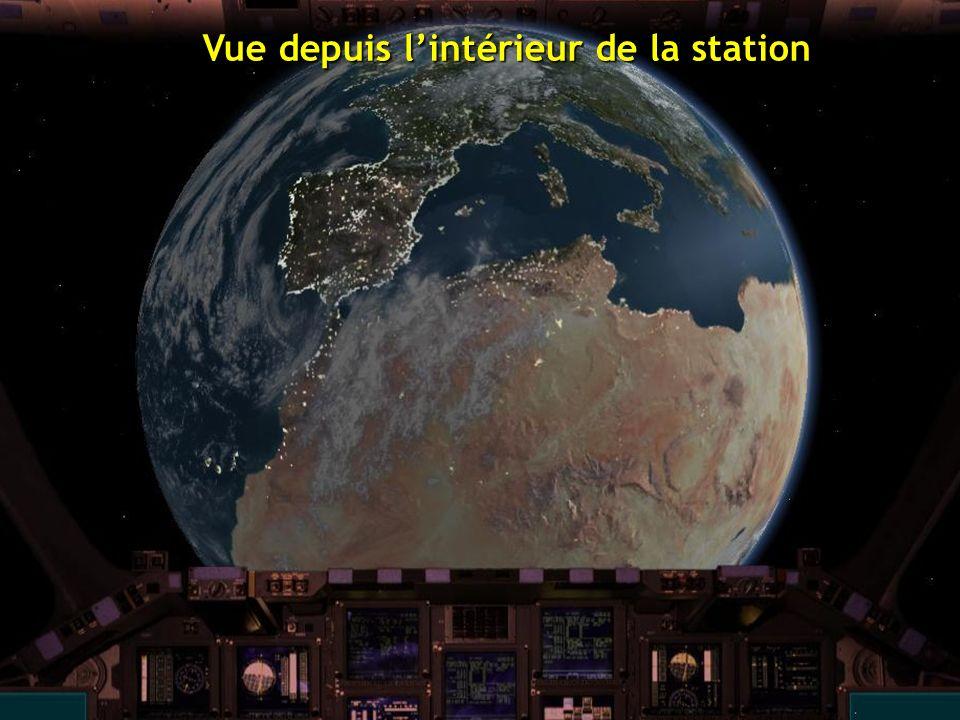 Vue depuis lintérieur de la station