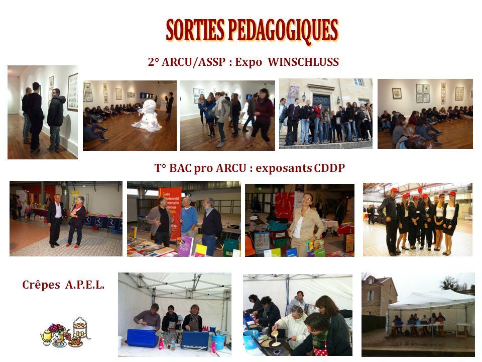 T° BAC pro ARCU : exposants CDDP 2° ARCU/ASSP : Expo WINSCHLUSS Crêpes A.P.E.L.
