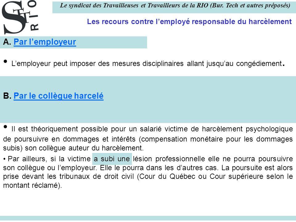 Le syndicat des Travailleuses et Travailleurs de la RIO (Bur.