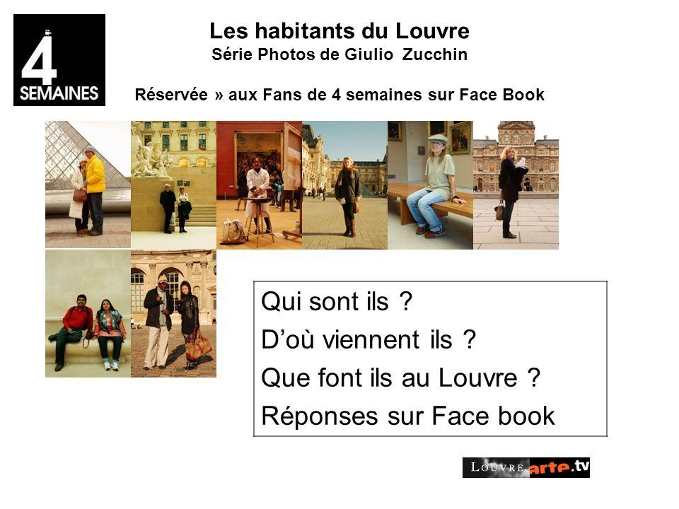 Les habitants du Louvre Série Photos de Giulio Zucchin Réservée » aux Fans de 4 semaines sur Face Book Qui sont ils .