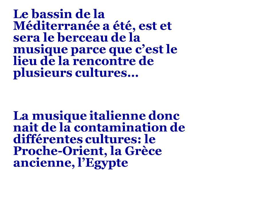 Le bassin de la Méditerranée a été, est et sera le berceau de la musique parce que cest le lieu de la rencontre de plusieurs cultures… La musique ital