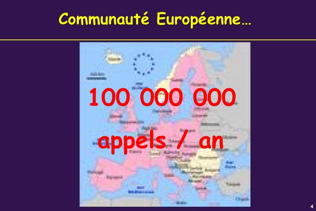 6 100 000 000 appels / an