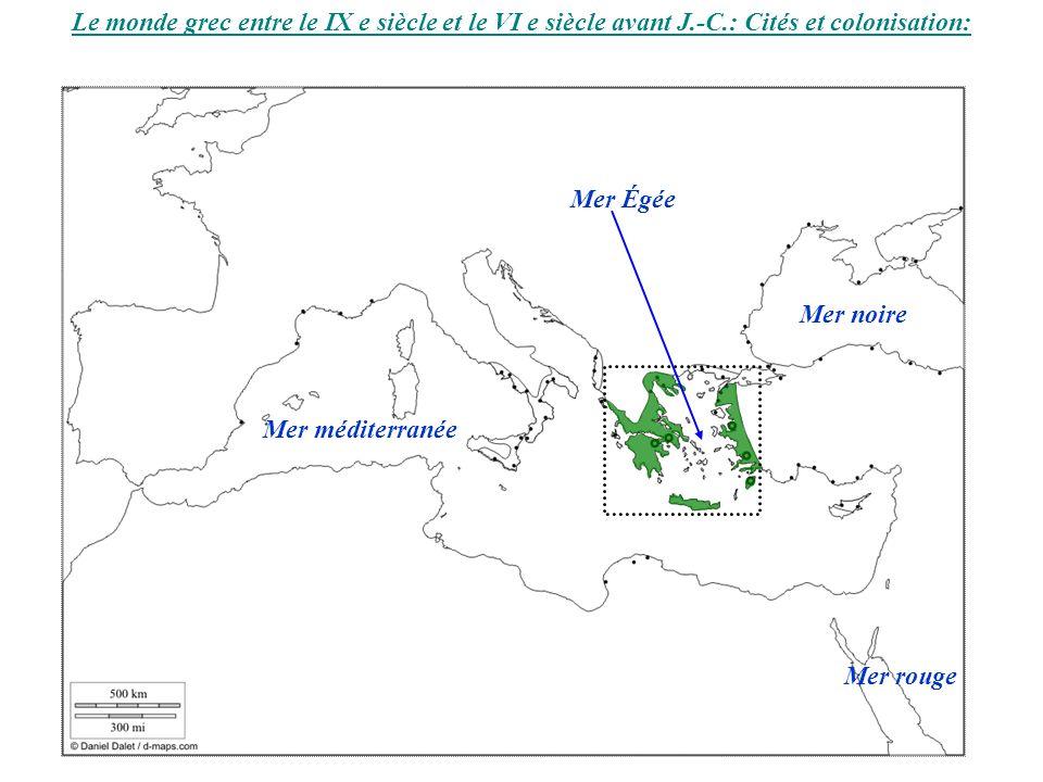 La cité grecque : reconstitution dune cité et plan de la cité de Cyrène : Métropole et colonies Un constat: Cyrène est bâtie sur le modèle de la cité mère (structure et bâtiments).