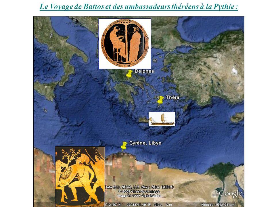 Le Voyage de Battos et des ambassadeurs théréens à la Pythie :