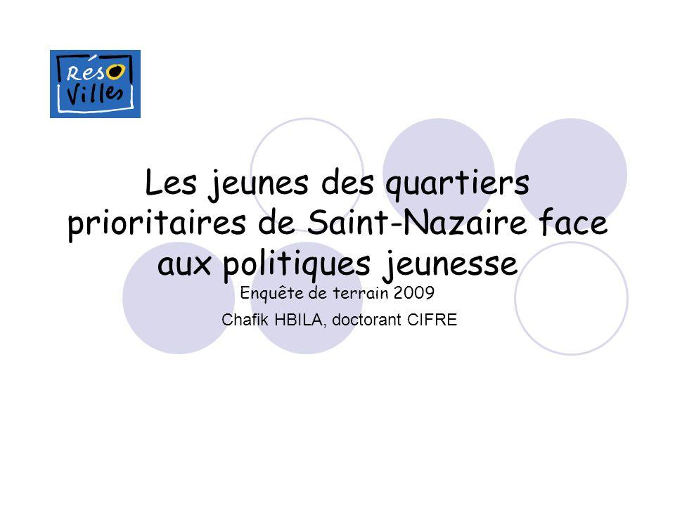 Les jeunes des quartiers prioritaires de Saint-Nazaire face aux politiques jeunesse Enquête de terrain 2009 Chafik HBILA, doctorant CIFRE