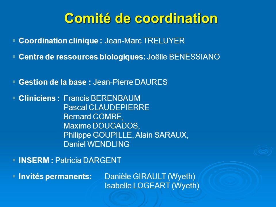 Coordination clinique : Jean-Marc TRELUYER Centre de ressources biologiques: Joëlle BENESSIANO Gestion de la base : Jean-Pierre DAURES Cliniciens :Fra