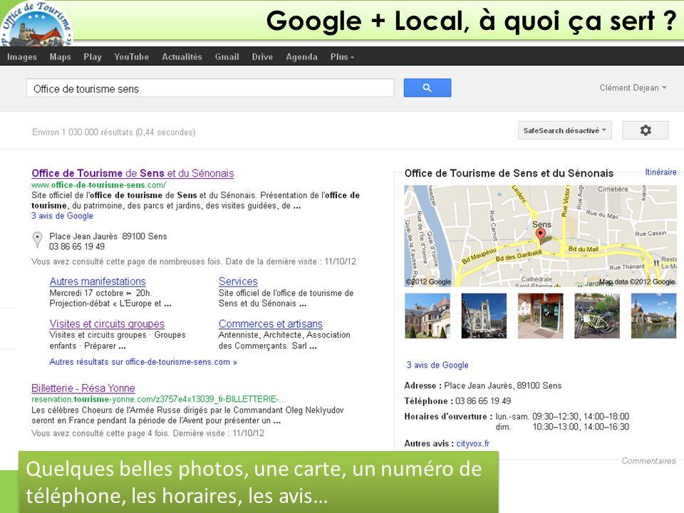 Google + Local, à quoi ça sert .