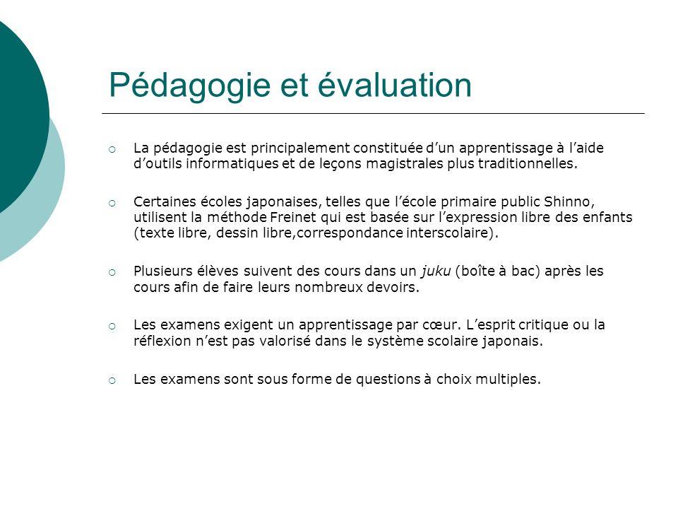 Pédagogie et évaluation La pédagogie est principalement constituée dun apprentissage à laide doutils informatiques et de leçons magistrales plus tradi