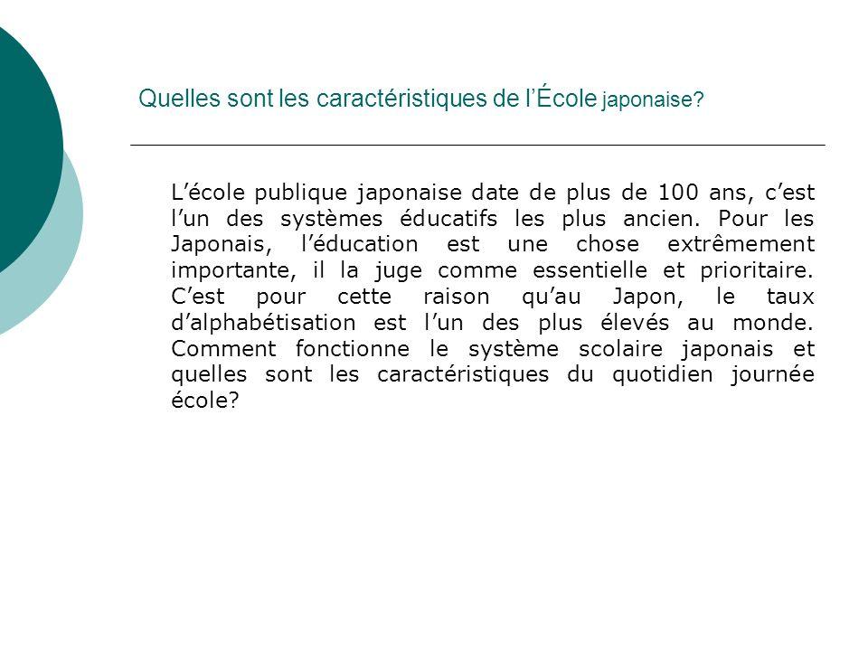 Le système scolaire japonais Lécole japonaise est régi par le ministère de lÉducation, de la Sciences et de la Culture (Monbusho).