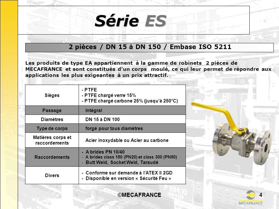 ©MECAFRANCE5 Robinets entièrement conçus et fabriqués en France 100% des robinets testés avant la livraison Certifications ISO 9001 délivrées par le LLOYDS et l AFAQ Certification PED selon Module H, autorisant les applications de catégories I, II ou III Certification ATEX (sur demande) groupe II, cat.