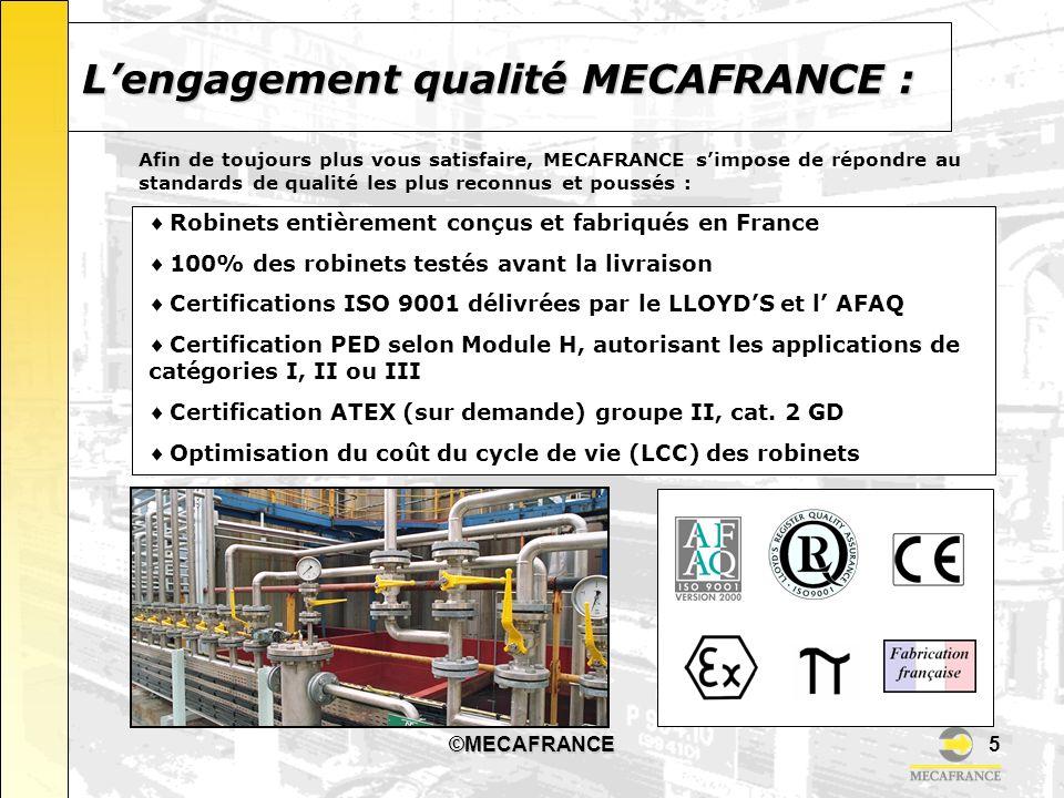 ©MECAFRANCE6 Parc dActivités du vert Galant – 4 rue des Oziers – BP 7107 Saint- Ouen LAumône 95004 Cergy Pontoise cedex – France Tél.
