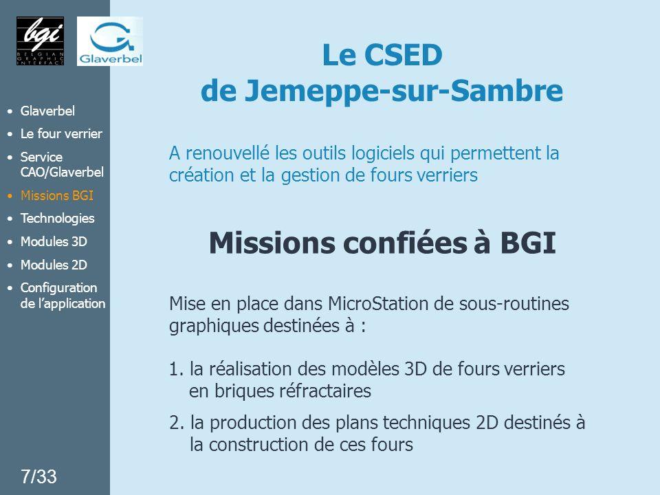Le CSED de Jemeppe-sur-Sambre A renouvellé les outils logiciels qui permettent la création et la gestion de fours verriers 2. la production des plans