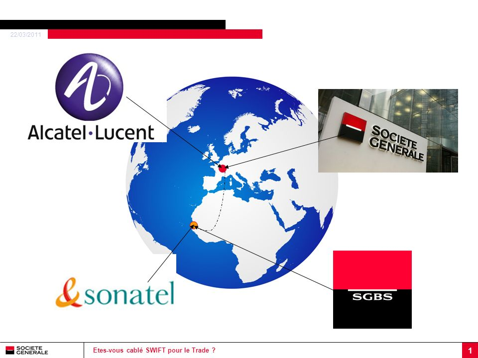 22/03/2011 2 Etes-vous cablé SWIFT pour le Trade .