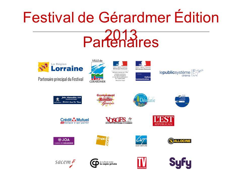 Partenaires Festival de Gérardmer Édition 2013