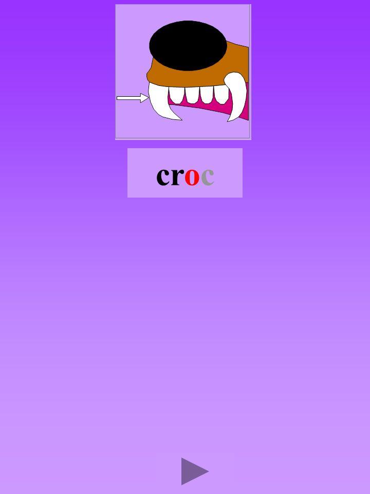 croc4 Quel son-voyelle ? o Dans quel ordre ? Quel est la bonne syllabe ? orccorcorcro crrocroc
