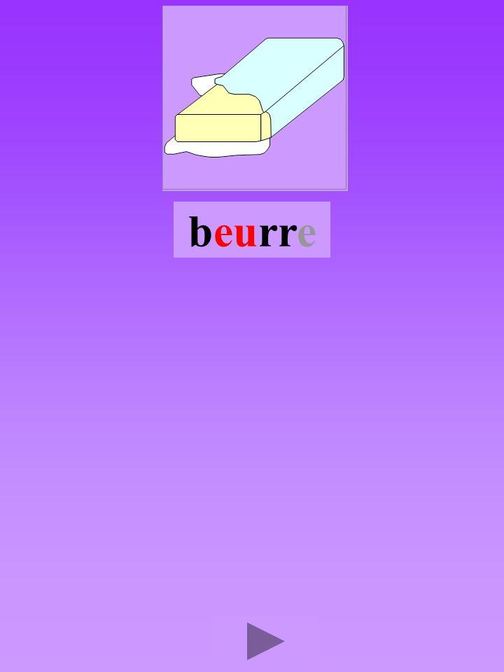 beurre4 Quel son-voyelle eu Dans quel ordre Quel est la bonne syllabe eurbbeurbreu brreub