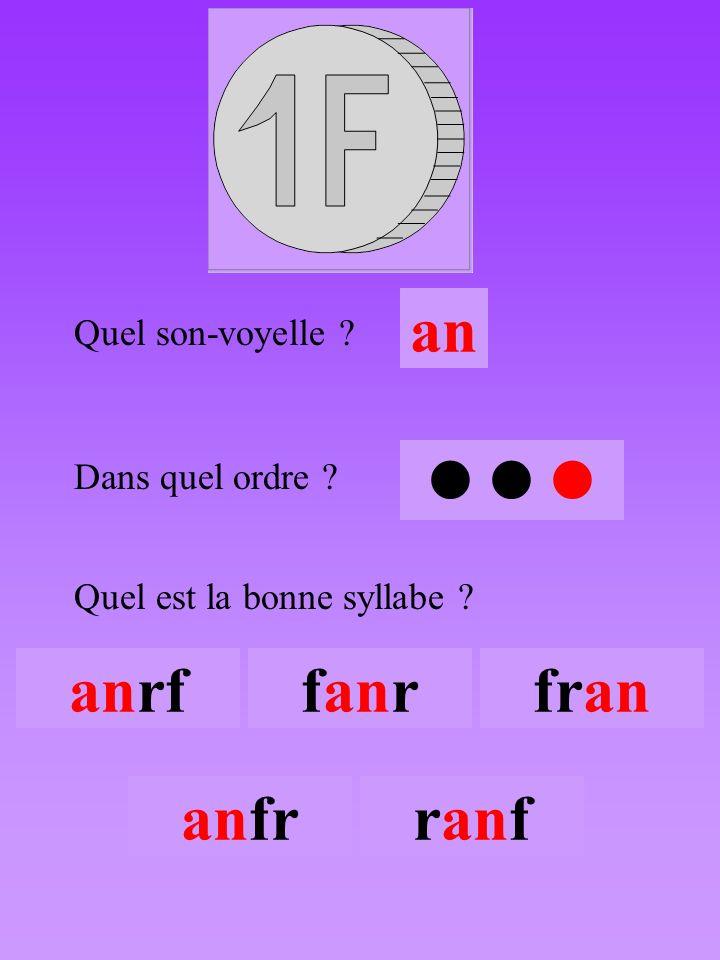 franc3 Quel son-voyelle an Dans quel ordre