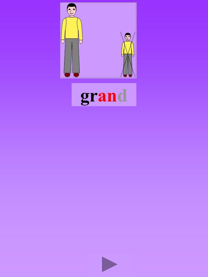 grand4 Quel son-voyelle ? an Dans quel ordre ? Quel est la bonne syllabe ? anrgganrgran grrang