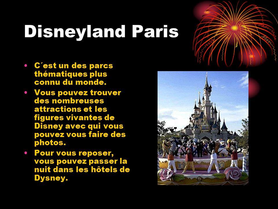 Disneyland Paris C´est un des parcs thématiques plus connu du monde. Vous pouvez trouver des nombreuses attractions et les figures vivantes de Disney