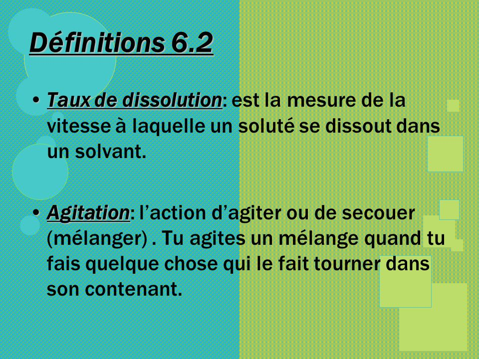 How does agitation make solutes dissolve faster.