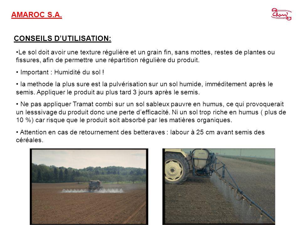 CONSEILS DUTILISATION: Le sol doit avoir une texture régulière et un grain fin, sans mottes, restes de plantes ou fissures, afin de permettre une répa