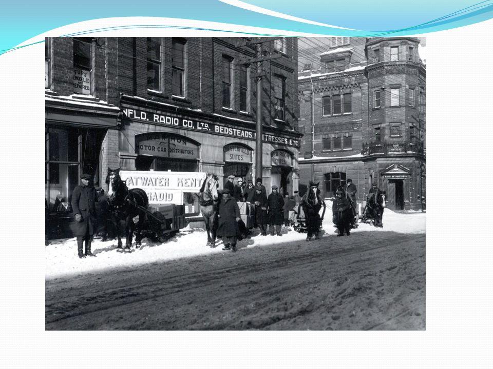A Terre-Neuve au 19e siècle, le logement et lalimentation étaient associés au gagne- pain de la famille.