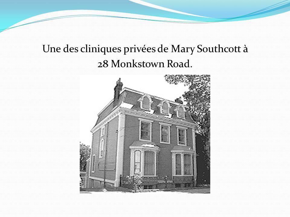 Une des cliniques privées de Mary Southcott à 28 Monkstown Road.
