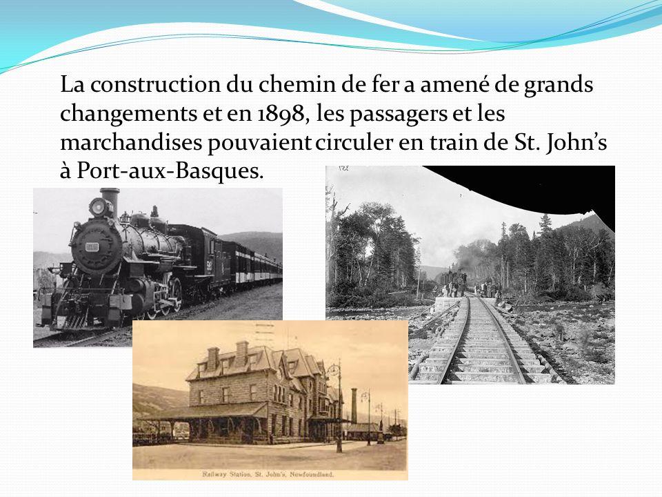 La construction du chemin de fer a amené de grands changements et en 1898, les passagers et les marchandises pouvaient circuler en train de St. Johns