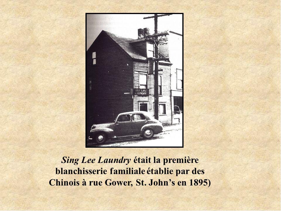 Sing Lee Laundry était la première blanchisserie familiale établie par des Chinois à rue Gower, St.