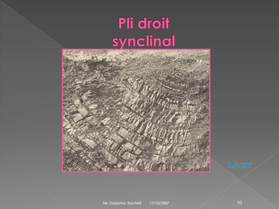 Anticlinal car: Ensemble de couches dont la courbure est dirigée vers le haut La couche centrale du plissement est la plus ancienne Anticlinal car: En