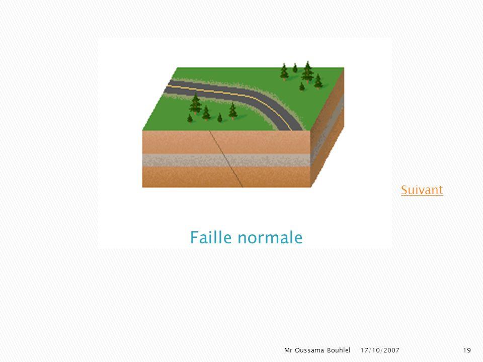Les failles normales témoignent dune activité sismique et sont présentes dans les zones en extension Une faille normale montre: Un compartiment abaiss