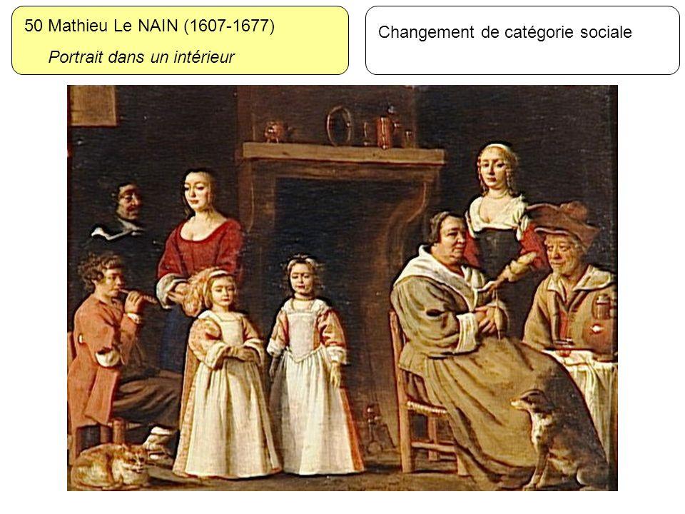 50 Mathieu Le NAIN (1607-1677) Portrait dans un intérieur Changement de catégorie sociale