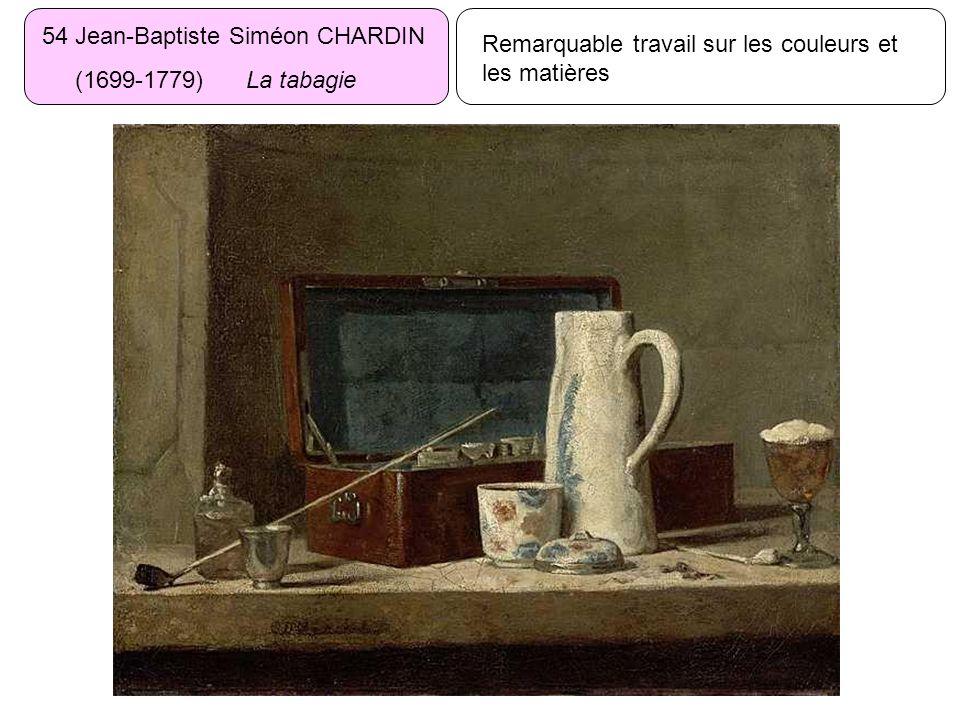 54 Jean-Baptiste Siméon CHARDIN (1699-1779) La tabagie Remarquable travail sur les couleurs et les matières