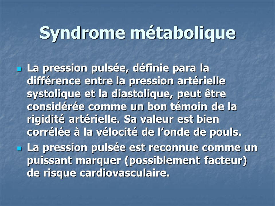 But de létude Le but de cette étude est danalyser la place dune augmentation de la pression pulsée (PP) vis à vis du syndrome métabolique (SM) incluant ou pas le critère tensionnel.