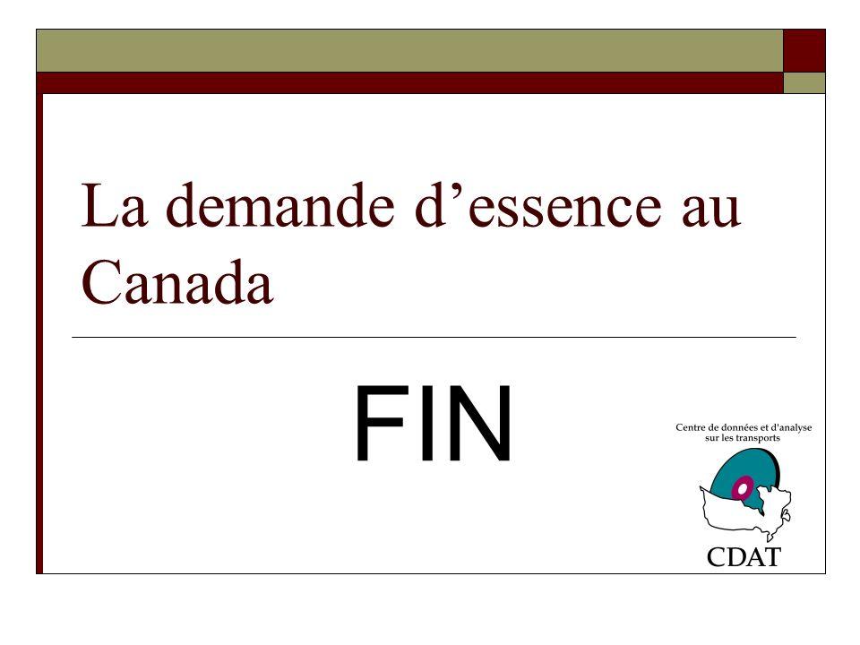La demande dessence au Canada FIN