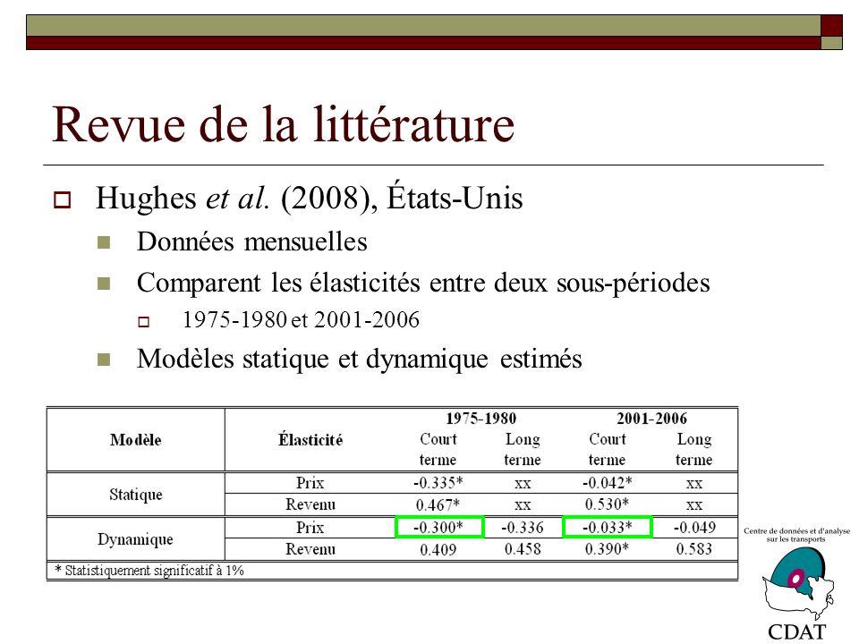 Revue de la littérature Hughes et al.